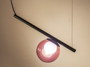 Handmade metal and glass pendant lamp POP S1