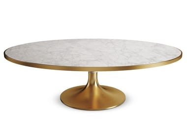 Round marble dining table CADDO
