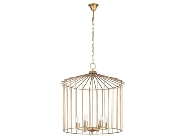 Brass pendant lamp CAGE 01 IN