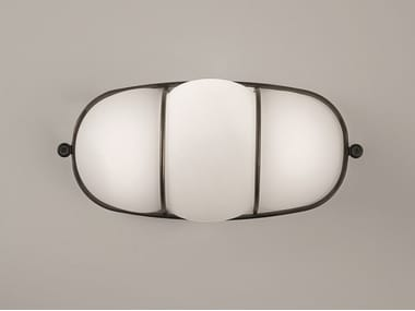 Applique a LED in vetro soffiato CAGE | Applique