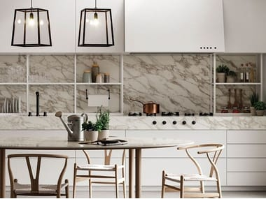 Porcelain stoneware wall tiles with marble effect CALACATTA ROYAL