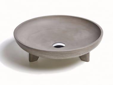 Vasque à poser rond en béton CALDERA