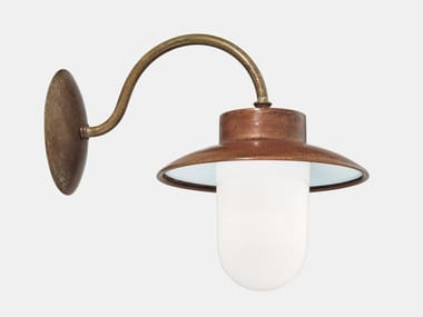 Direct light metal outdoor wall lamp CALMAGGIORE 231.03.ORB