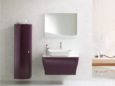 Wall-mounted vanity unit with mirror CALYPSO 04
