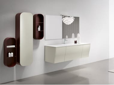 Wall-mounted vanity unit with mirror CALYPSO 06