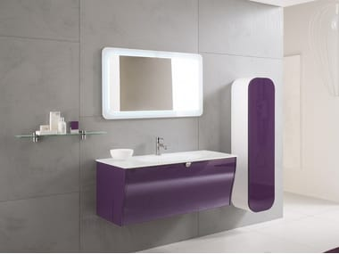 Wall-mounted vanity unit with mirror CALYPSO 07