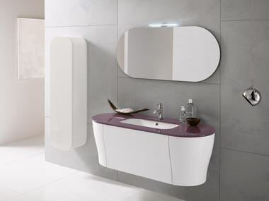 Wall-mounted vanity unit with mirror CALYPSO 10