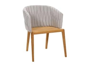 Garden upholstered fabric easy chair CALYPSO
