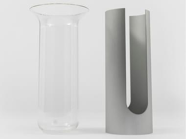 Vaso in alluminio e vetro CAMICIA A
