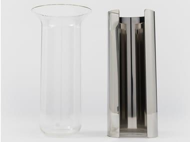 Vaso in acciaio inox e vetro CAMICIA B
