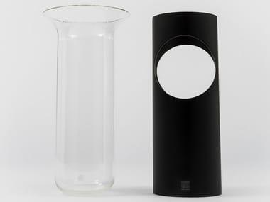 Vaso in alluminio e vetro CAMICIA C