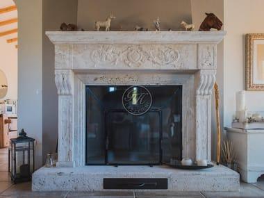 Wall-mounted natural stone fireplace Fireplace 22