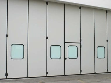 Industrial folding door CAMPISAFOLD