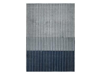 Striped handmade wool rug CAMPOS BLUE