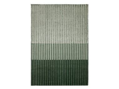 Striped handmade wool rug CAMPOS GREEN