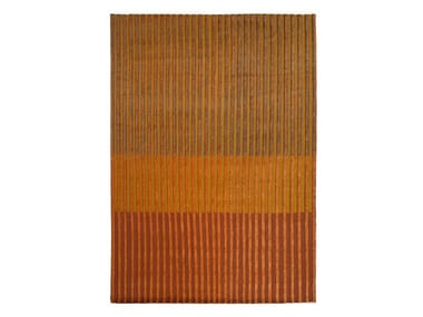 Striped handmade wool rug CAMPOS ORANGE