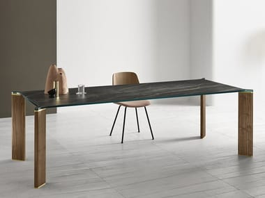 Rectangular ceramic dining table CAN CAN | Ceramic table