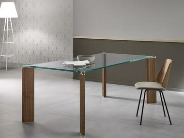 Rectangular glass dining table CAN CAN | Rectangular table