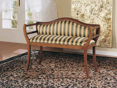 Solid wood small sofa CANALETTO | Small sofa