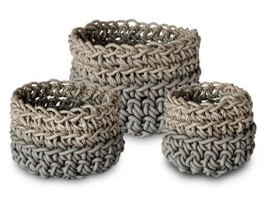Set of neoprene and hemp baskets CANAPA SET HD3