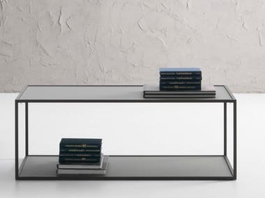 Rectangular tempered glass coffee table CANDEM | Rectangular coffee table