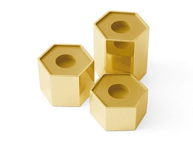 Brass candle holder CANDLE HOLDERS HEXAGONAL