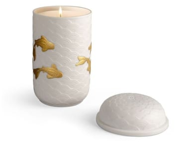 Porcelain candle KOI | Candle holder