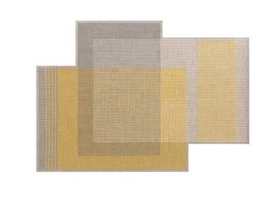 Wool rug CANEVAS GEO GREY | Rug