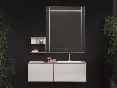 Wall-mounted vanity unit with mirror CANNAREGIO
