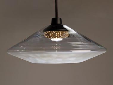 LED blown glass pendant lamp CANOPY 450