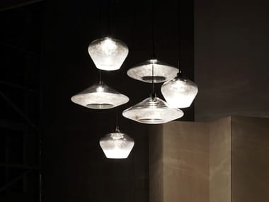 LED blown glass pendant lamp CANOPY CLUSTER