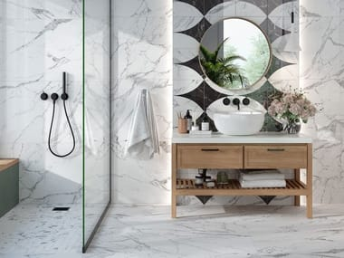Porcelain stoneware wall/floor tiles with marble effect CANOVA