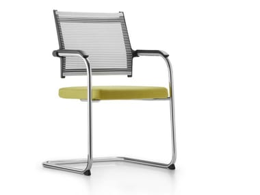 Cantilever chair with armrests LORDO | Cantilever chair