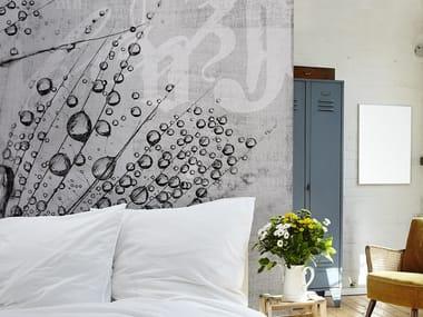 Washable panoramic glass-fibre wallpaper CANVAS DROP
