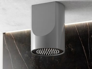 Ceiling mounted round Luxolid® overhead shower CANYON FLOW