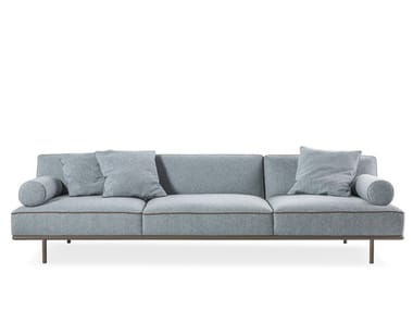 Sectional sofa with removable cover CAP MARTIN SUNSET