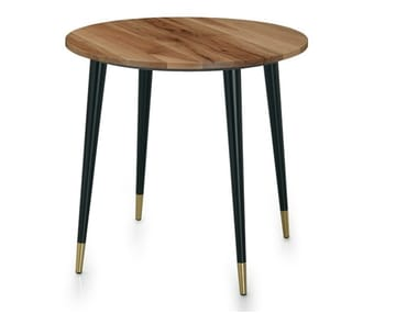 Mesa redonda de madera maciza CAP | Mesa redonda