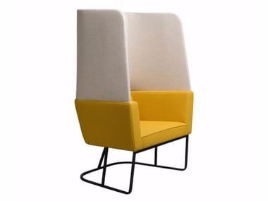 Sessel aus Stoff mit hoher Rückenlehne CAPE | Sessel mit hoher Rückenlehne