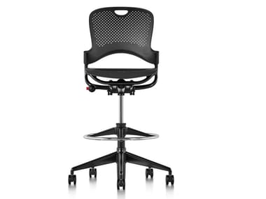 Swivel Nylon® office stool with 5-Spoke base CAPER | Office stool