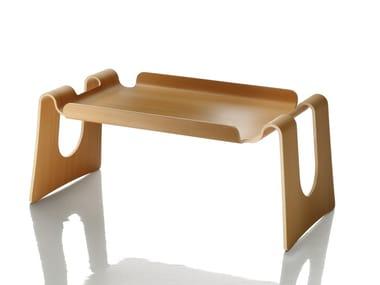 Rectangular multi-layer wood tray CAPPUCCINO