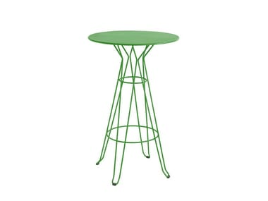 Lacquered round high table CAPRI | High table