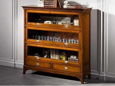Wood and glass display cabinet CAPRICCI | Display cabinet