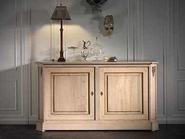 Oak sideboard with doors CAPRICCI | Oak sideboard