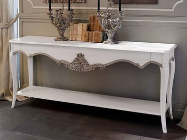 Lacquered console table with drawers CAPRICCI | Lacquered console table