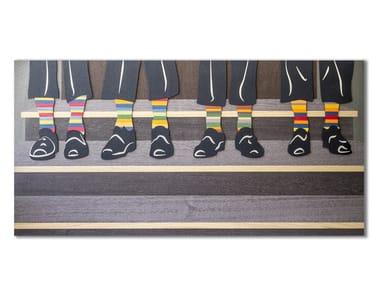 Three-dimensional decorative panel made of inlayed wood CAPRICCIO SOCKS