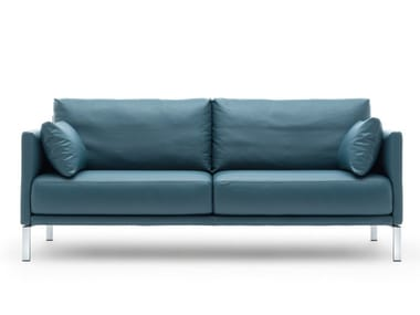 Leather sofa with electric motion ROLF BENZ 008 CARA | Leather sofa