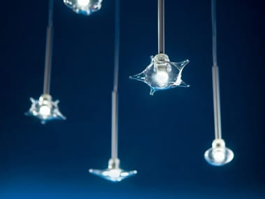 LED direct light Borosilicate glass pendant lamp CARAMELLA | Pendant lamp