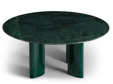 Tavolino rotondo in marmo verde indiano CARLOTTA | Tavolino in marmo verde indiano