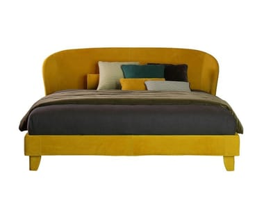 Double bed with upholstered headboard CARNABY | Double bed