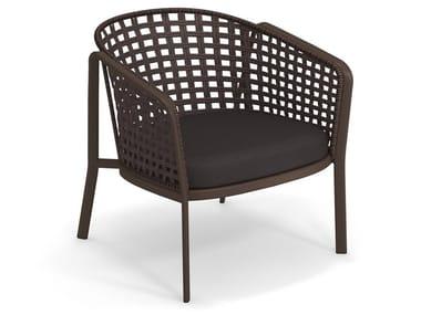 Square twist alu-rope lounge chair CAROUSEL 1217 | Armchair